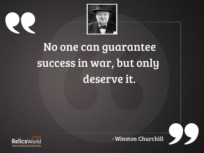 No one can guarantee success