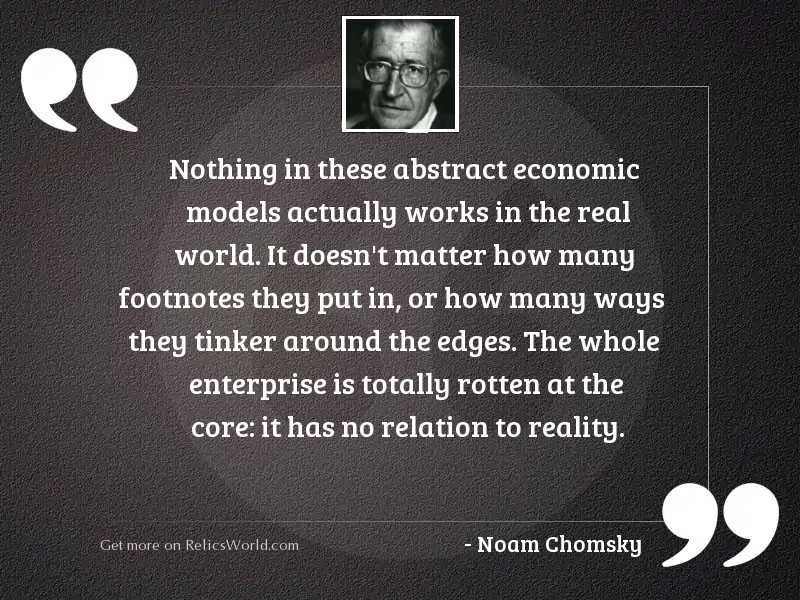 Nothing in these abstract economic