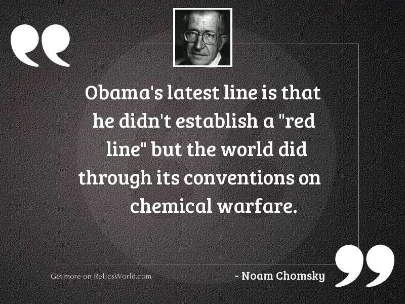 Obama's latest line is
