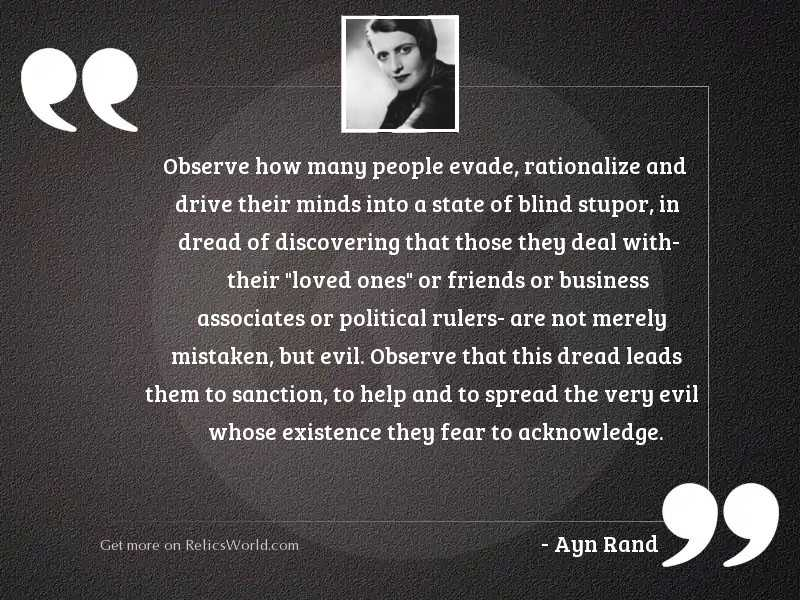 Observe how many people evade,
