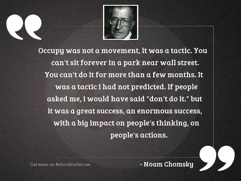 Occupy was not a movement,