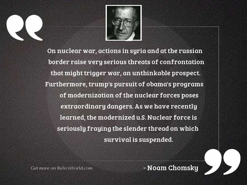On nuclear war, actions in