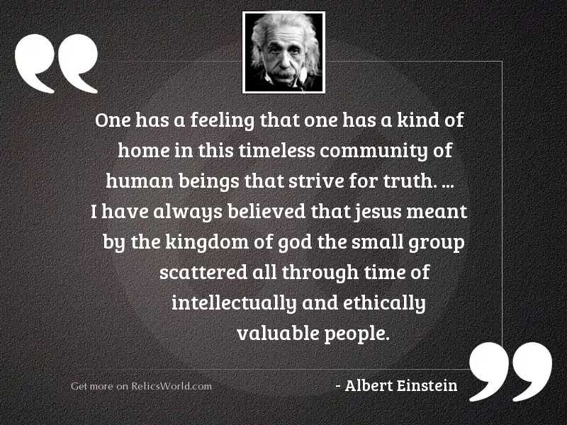 one has a feeling that inspirational quote by albert einstein