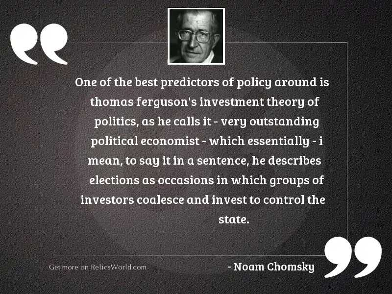 One of the best predictors