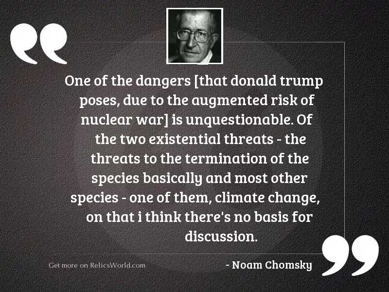 One of the dangers [that