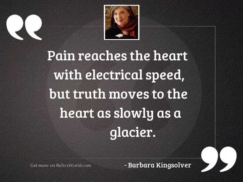 Pain reaches the heart with