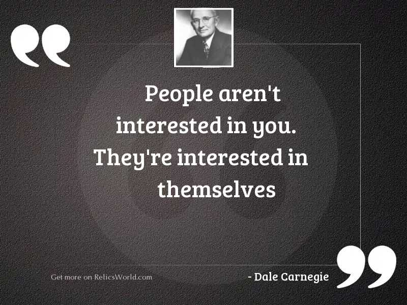 People aren't interested in