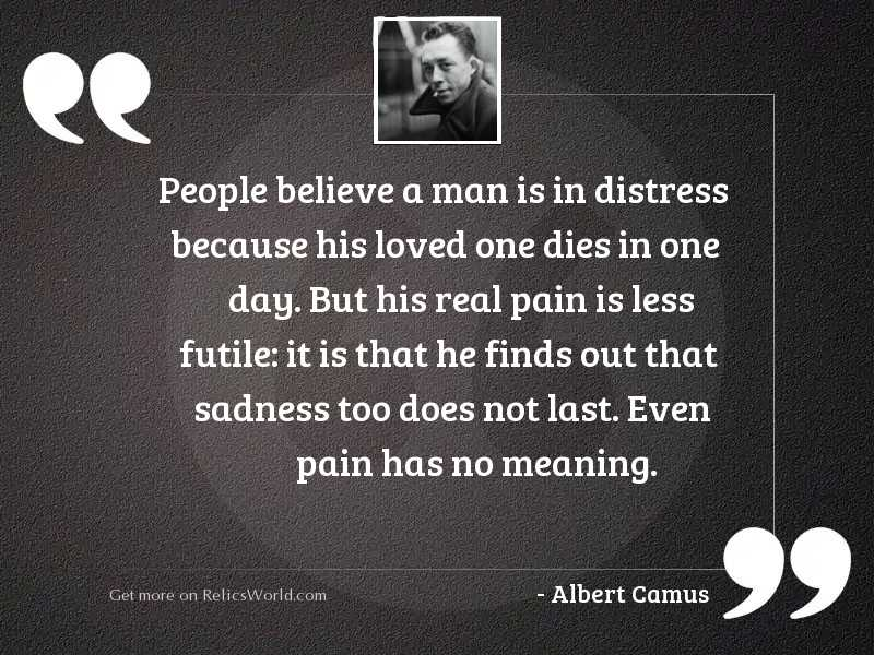 People believe a man is
