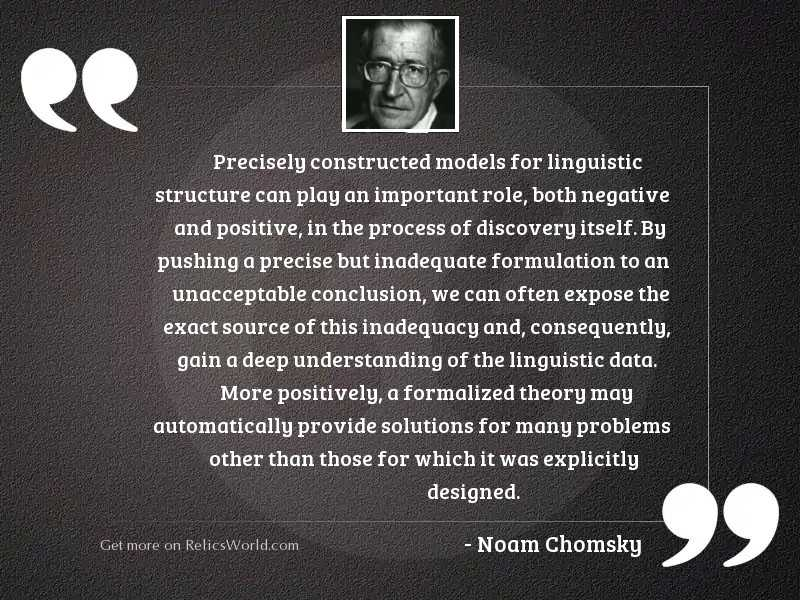 Precisely constructed models for linguistic