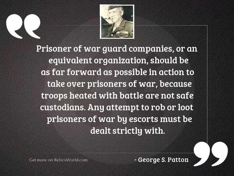 Prisoner of War guard companies,