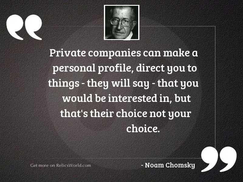 Private companies can make a