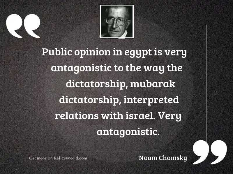 Public opinion in Egypt is