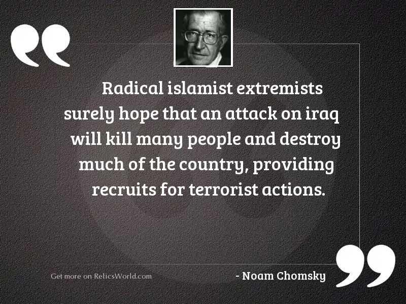 Radical Islamist extremists surely hope