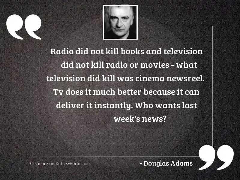 Radio did not kill books