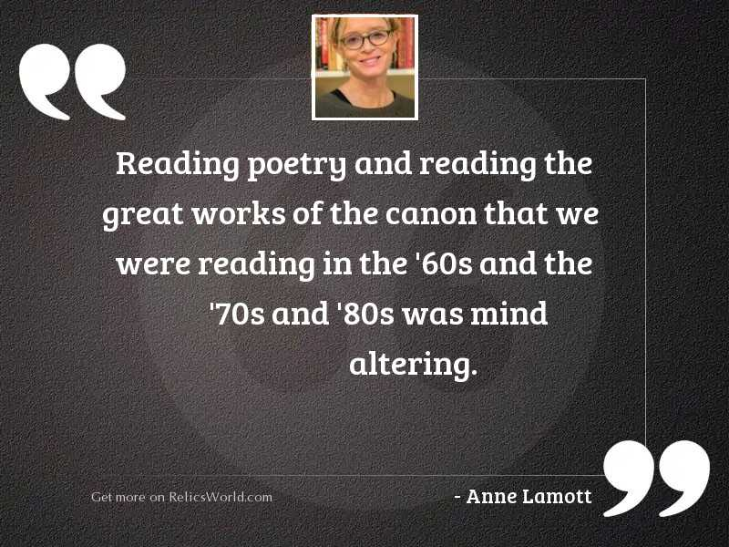 Reading poetry and reading the