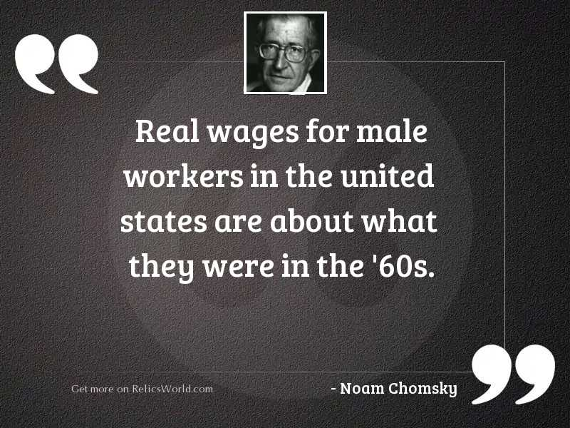 Real wages for male workers