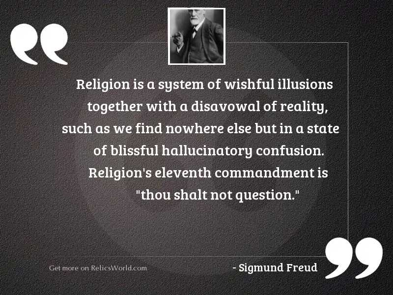 Religion is a system of