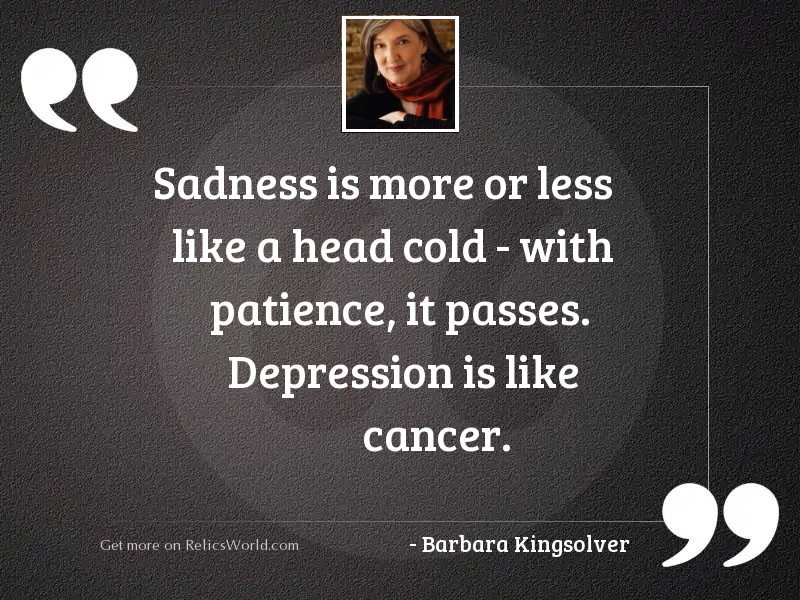 Sadness is more or less