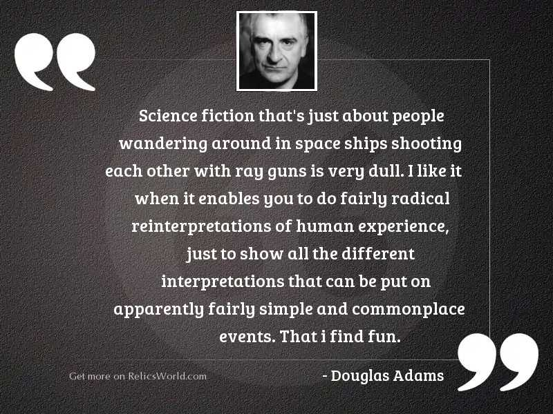 Science fiction thats just about
