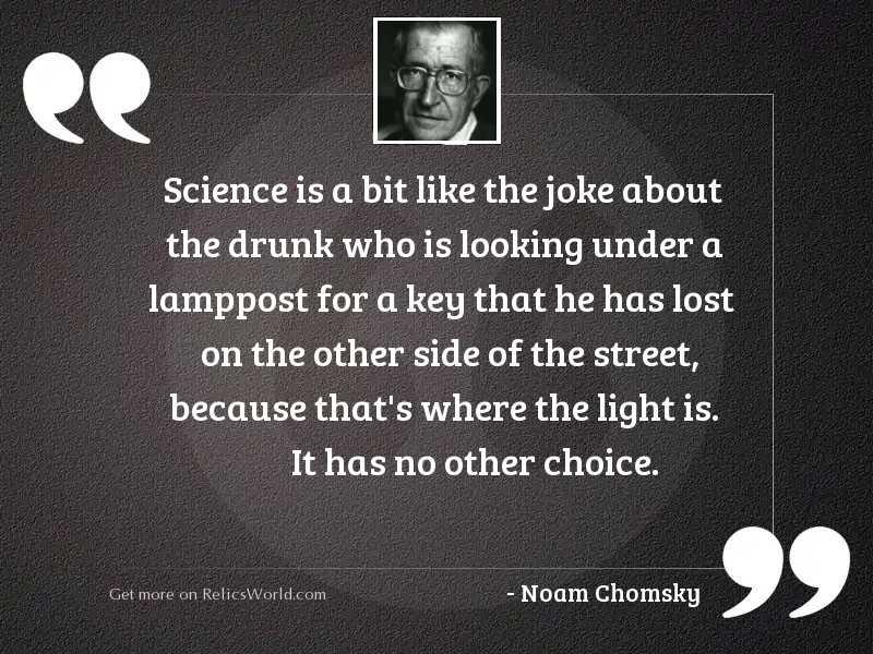 Science is a bit like