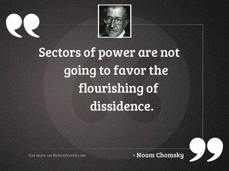 Sectors of power are not
