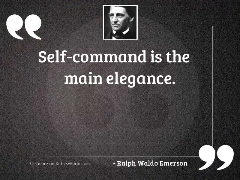 Self command is the main