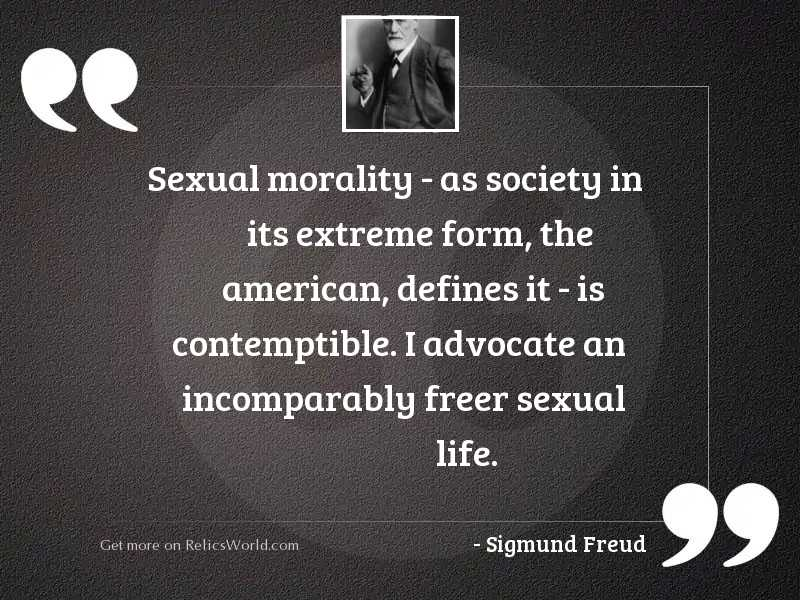 Sexual morality   as society in