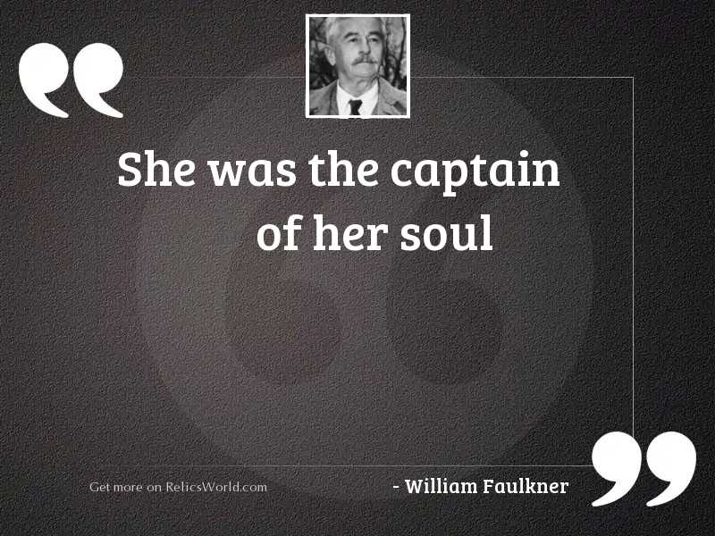 She was the captain of