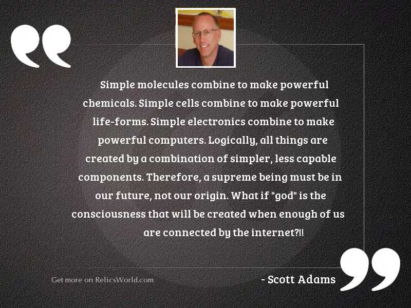 Simple molecules combine to make