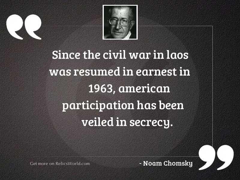 Since the civil war in