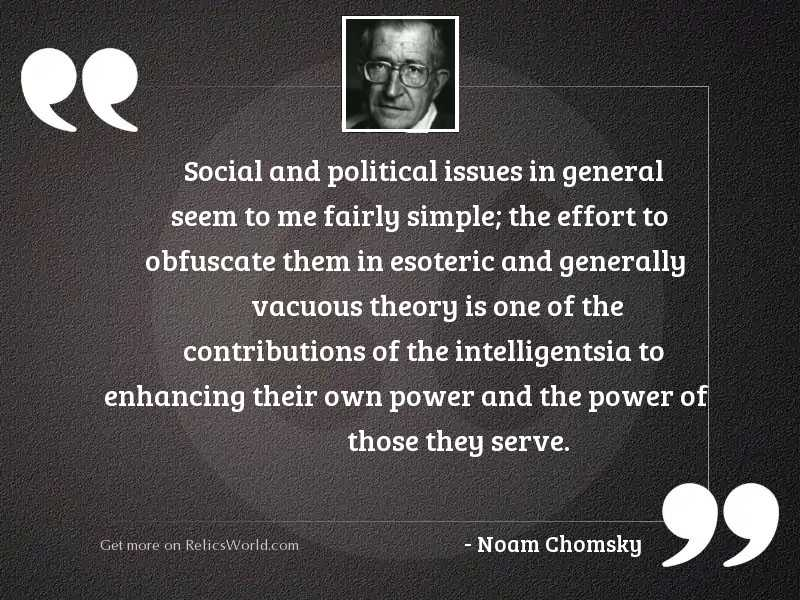 Social and political issues in