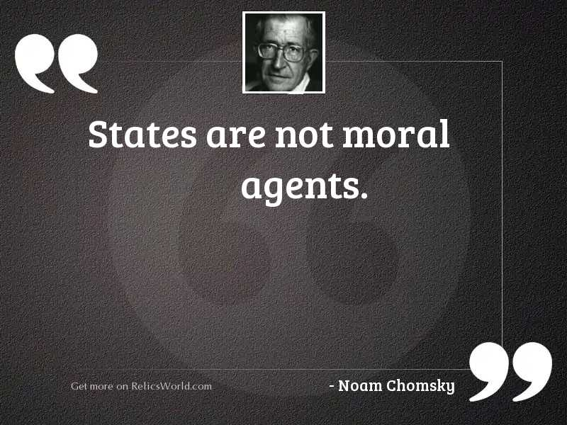 States are not moral agents.