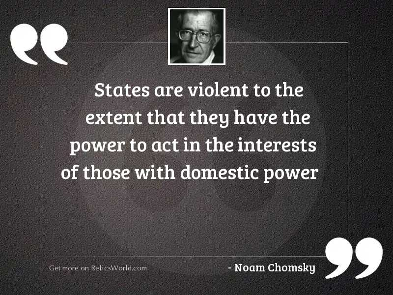 States are violent to the
