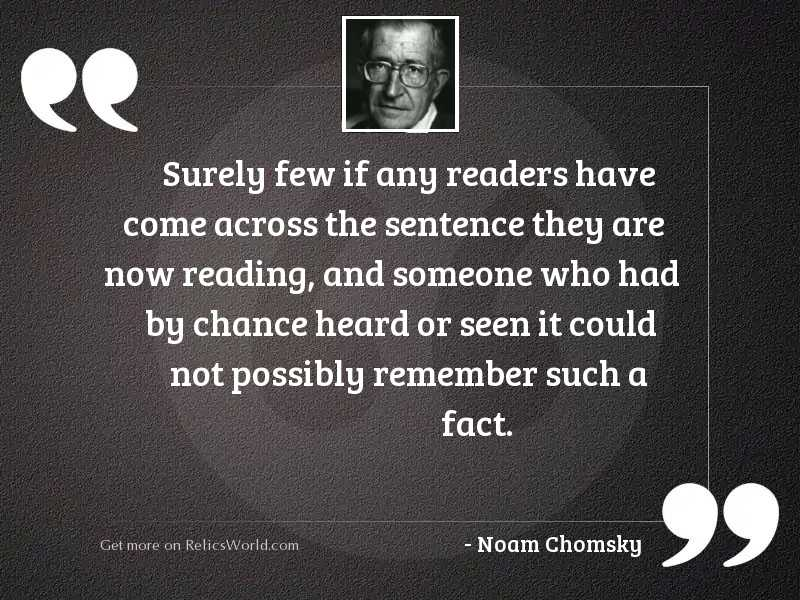 Surely few if any readers