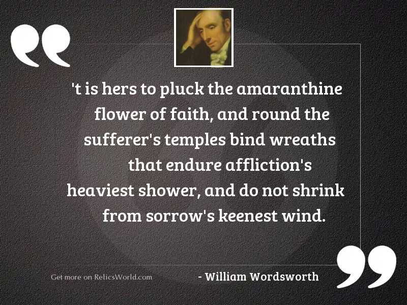 t-is-hers-to-pluck... | Inspirational Quote by William Wordsworth