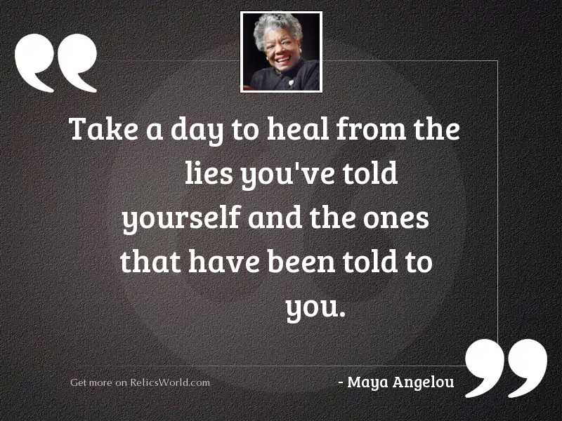 Take a day to heal