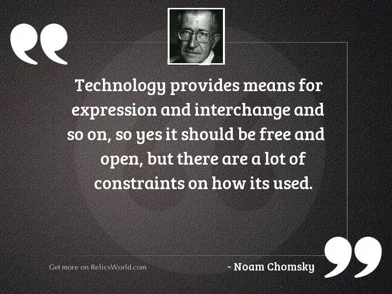 Technology provides means for expression