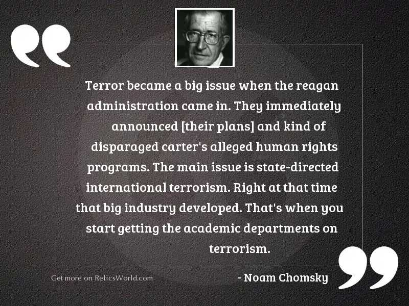 Terror became a big issue