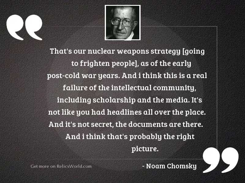 That's our nuclear weapons