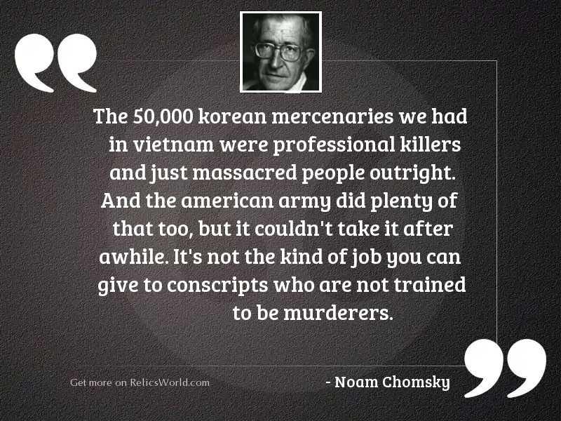 The 50,000 Korean mercenaries
