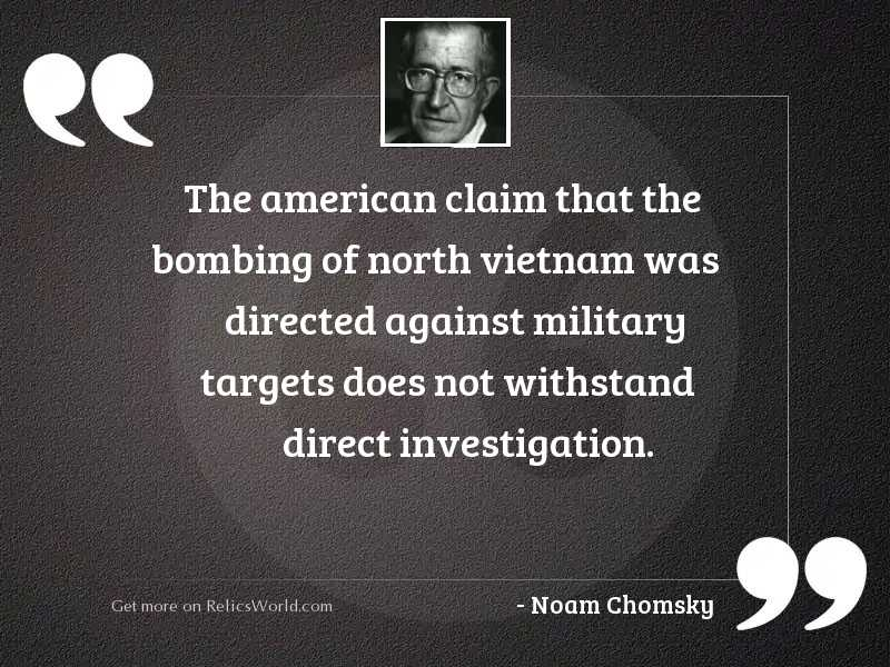 The American claim that the