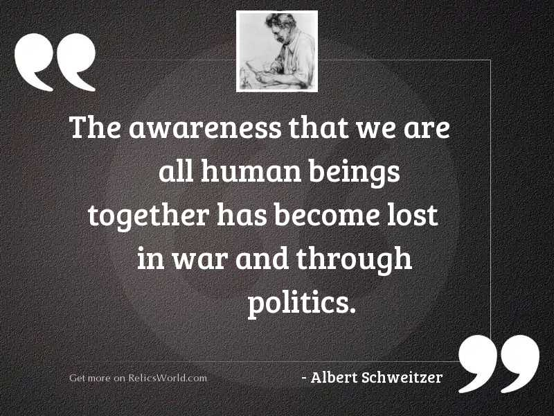 The awareness that we are