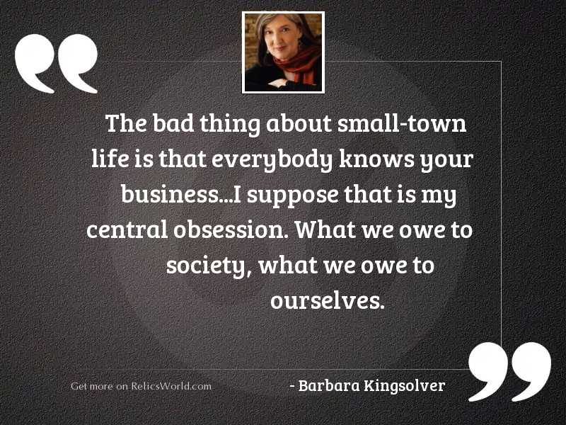 The bad thing about small