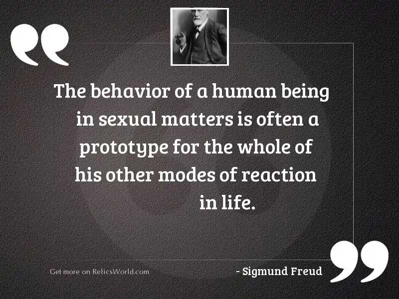 The behavior of a human