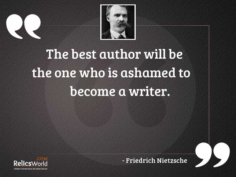 The best author will be