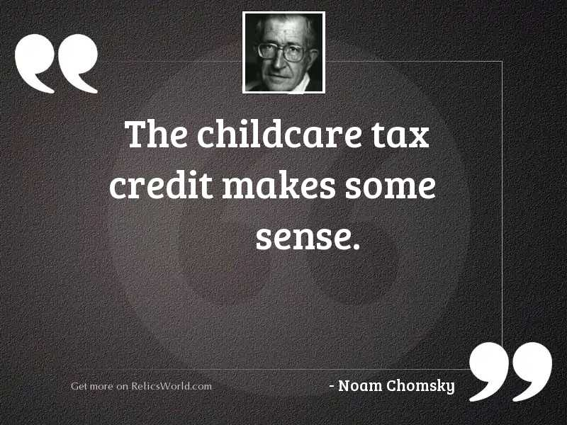 The childcare tax credit makes