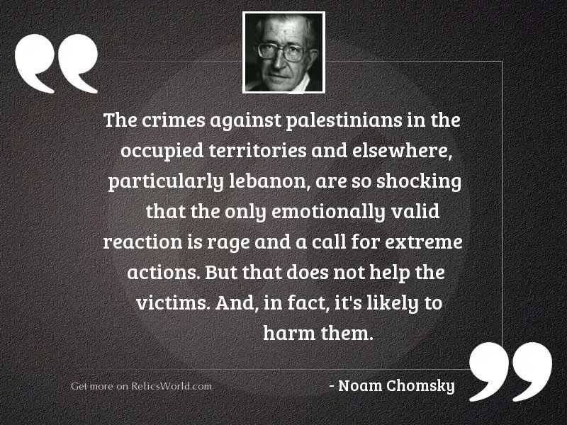 The crimes against Palestinians in
