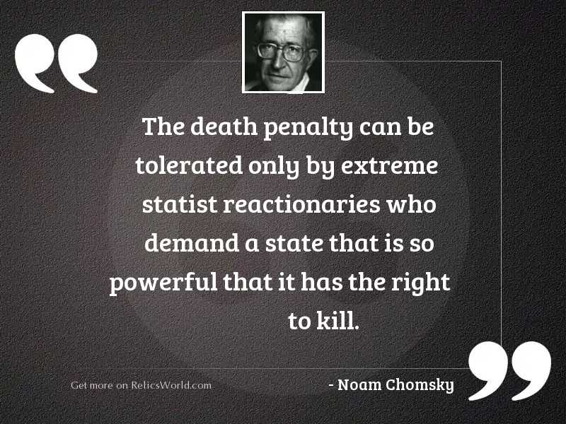 The death penalty can be