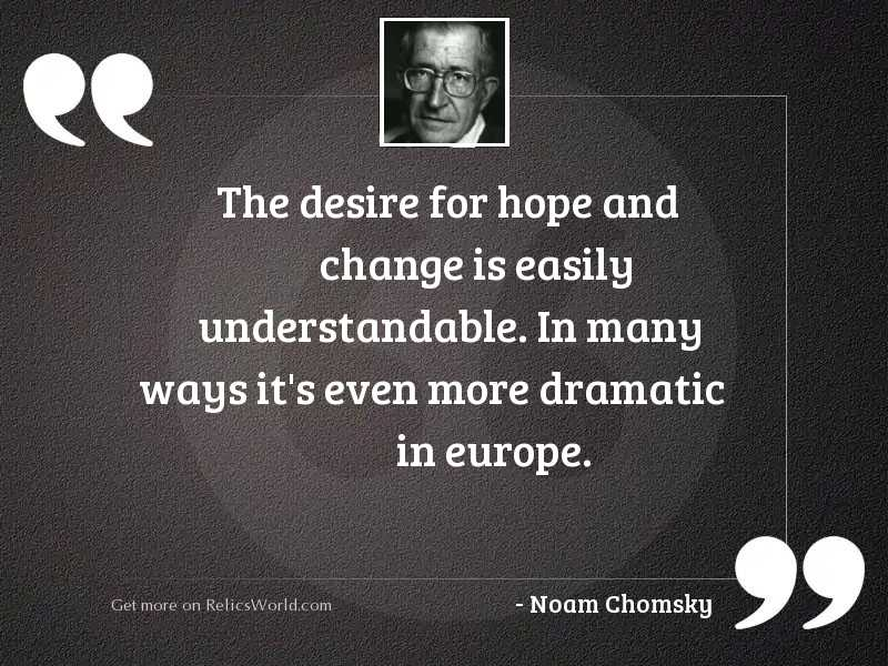 The desire for hope and