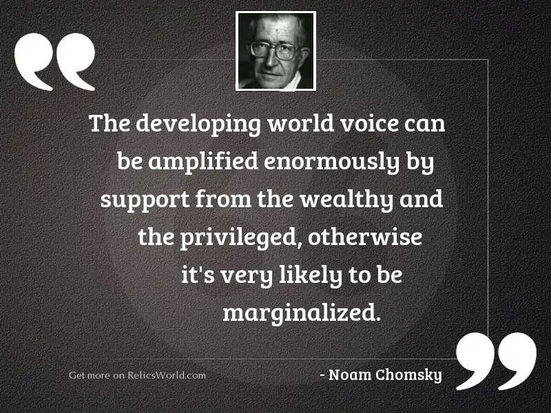 The developing world voice can